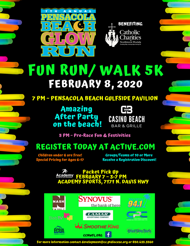 Catholic Charities Glow Run